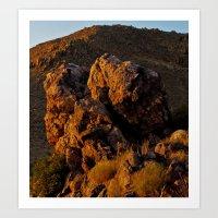 Rock In The Desert Art Print