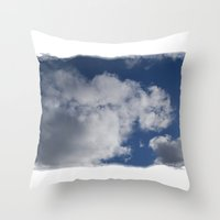 Clouds Over Hill Throw Pillow