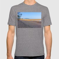 Secluded Beach At Low Ti… Mens Fitted Tee Tri-Grey SMALL