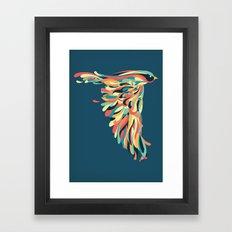 Downstroke Framed Art Print