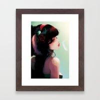 La Cantatrice En Greve..… Framed Art Print