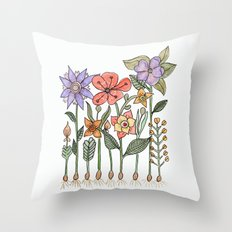 Progress flowers Throw Pillow