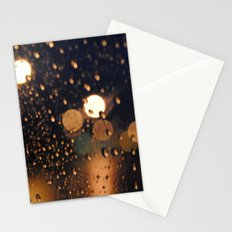 rain bokeh Stationery Cards