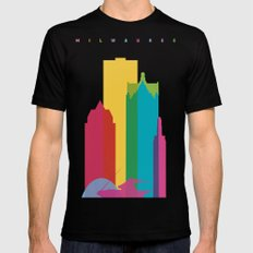 Shapes of Milwaukee. Accurate to scale Mens Fitted Tee Black SMALL