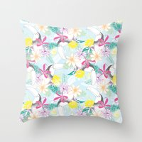 You Can Toucan Throw Pillow