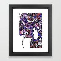 Salmon Techno Framed Art Print