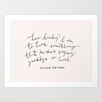 LUCKY - WINNIE THE POOH QUOTE Art Print