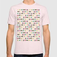 Playpauserecordejectnext… Mens Fitted Tee Light Pink SMALL