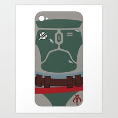 Boba Fett iPhone Case Art Print