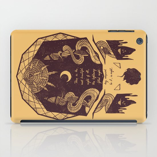 The Lightning Filled Night iPad Case