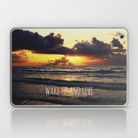 Wake Up And Live Laptop & iPad Skin