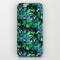 Welcome to the Jungle Palm electric green iPhone & iPod Skin