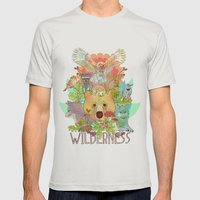 Wilderness Mens Fitted Tee Silver SMALL