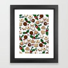Christmas Treats and Cookies Framed Art Print