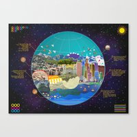Map.  Canvas Print