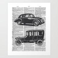 Automobile Dictionary Pa… Art Print