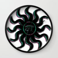Blue Egyptian Sun Wall Clock