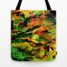 Abstract Art with flowers Tote Bag