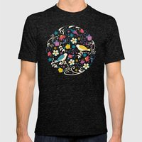 Garden Birds Mens Fitted Tee Tri-Black SMALL