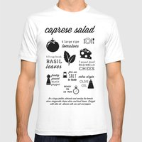 Caprese Salad Mens Fitted Tee White SMALL