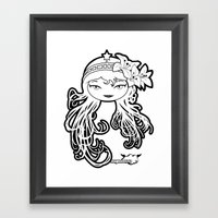 Lybee Black & White Framed Art Print