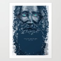 Art Print featuring Old Man by Mexican Zebra