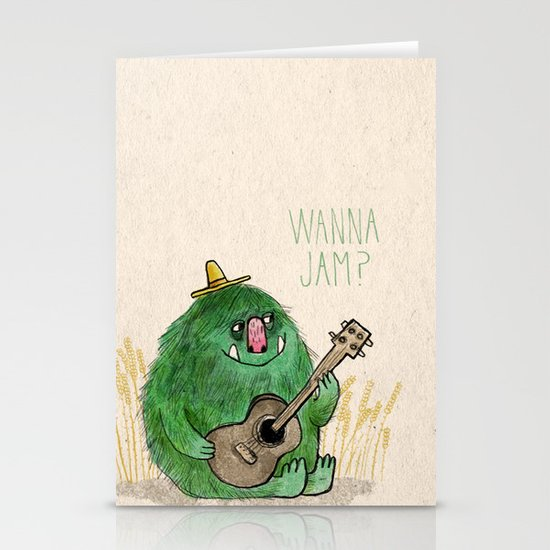Monster Jam Stationery Card