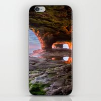 Sea Cave Sunset on Lake Superior iPhone & iPod Skin