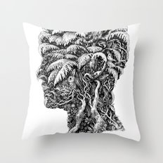 Portrait of Winter Throw Pillow
