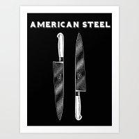 American Steel Cutlery Art Print