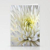 White Dahlia Flower Stationery Cards