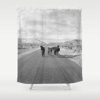 Spring Mountain Wild Horses Shower Curtain