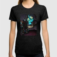 At the Forge Womens Fitted Tee Tri-Black SMALL