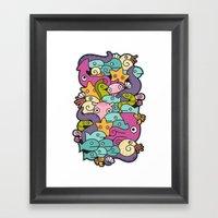 Seafood Framed Art Print