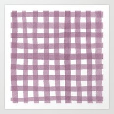 Gingham Plum Art Print