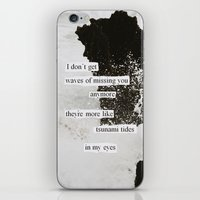 Tsunami Tides In My Eyes iPhone & iPod Skin