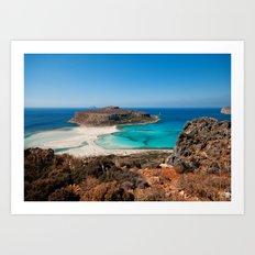 Balos Beach Art Print
