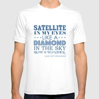 Satellite Mens Fitted Tee White SMALL