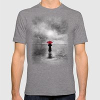 Waiting In The Sea II  -… Mens Fitted Tee Tri-Grey SMALL