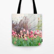 NYC Tulips Of Park Avenu… Tote Bag