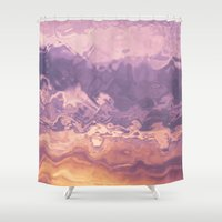 Gold violet pattern Shower Curtain