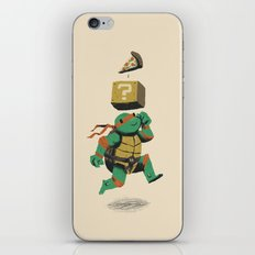 turtle power..up iPhone & iPod Skin