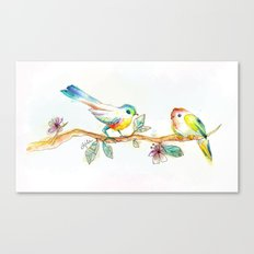 When Love Was Spring (on white) Canvas Print