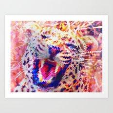 Rainbow Roar Art Print