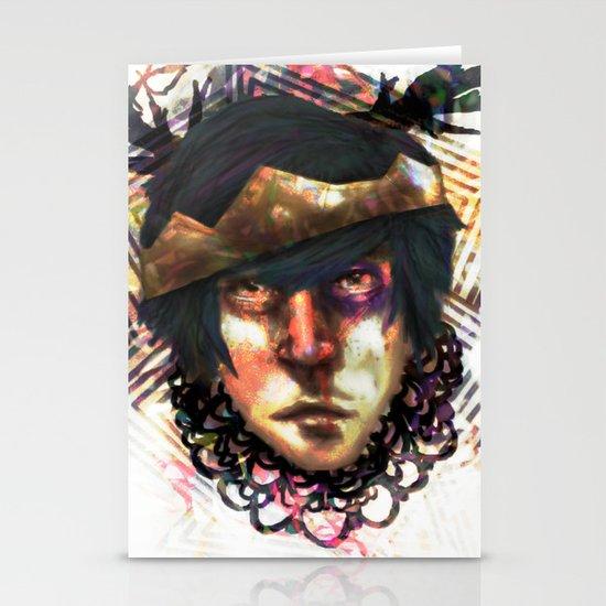 Gleam Diamond Punk King Stationery Card