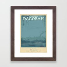 Retro Travel Poster Series - Star Wars - Dagobah Framed Art Print
