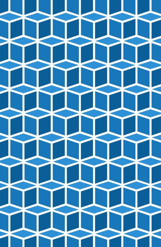 Blue Boxes Art Print