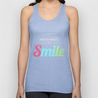 Don't Forget To Smile Unisex Tank Top