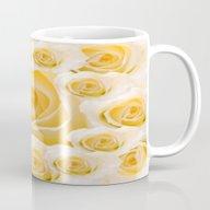 Creamy Peach Rose Abstra… Mug