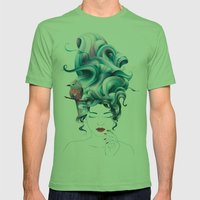 A Girl With Aqua Hair Mens Fitted Tee Grass SMALL